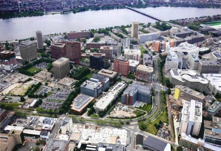 Aerial view of Kendall Square
