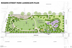 Proposed Site Plan for Rogers Street Park