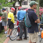 Photo of bicyclists and walkers