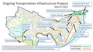 Ongoing transportation infrastructure projects map March 2021