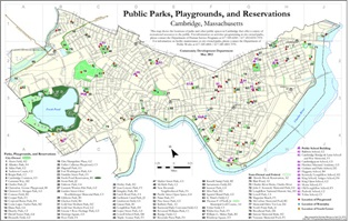 Public Parks Playgrounds and Reservations Map