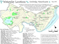 Map of waterplay locations in public parks