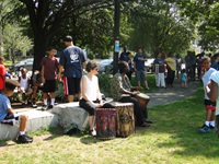 summer drums in park