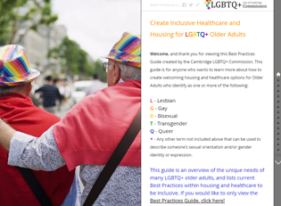 Create Inclusive Healthcare and Housing for LGBTQ+ Older Adults