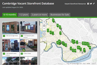 Vacant Storefront Story Map Series Screenshot