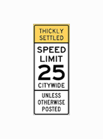 25 mph speed sign