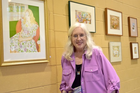 Kathleen Tighe Clark at St. Paul Catholic Church during Cambridge Arts Open Studios, Sept. 29, 2018.