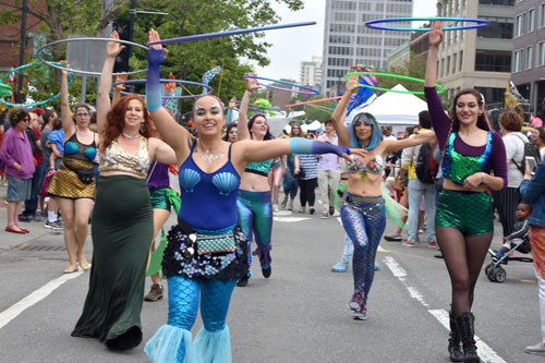 Mermaid Promenade during 2019 Cambridge Arts River Festival.