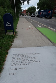 Concord ave sidewalk poetry location