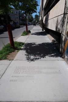central sq library sidewalk poetry location