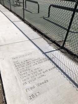 Morse school sidewalk poetry location