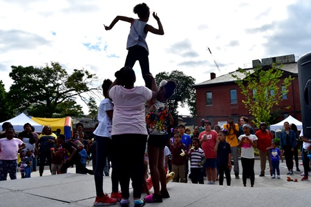 Dancing during the Community Art Center's Port Arts Festival, June 15, 2018.