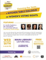 Event image for Claiming our Seats: A Kitchen Table Dialogue on Women's Voting Rights