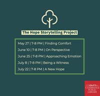 Event image for The Hope Storytelling Project: Finding Comfort