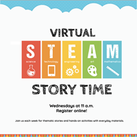 Event image for Virtual STEAM Story Time: DIY Sidewalk Chalk