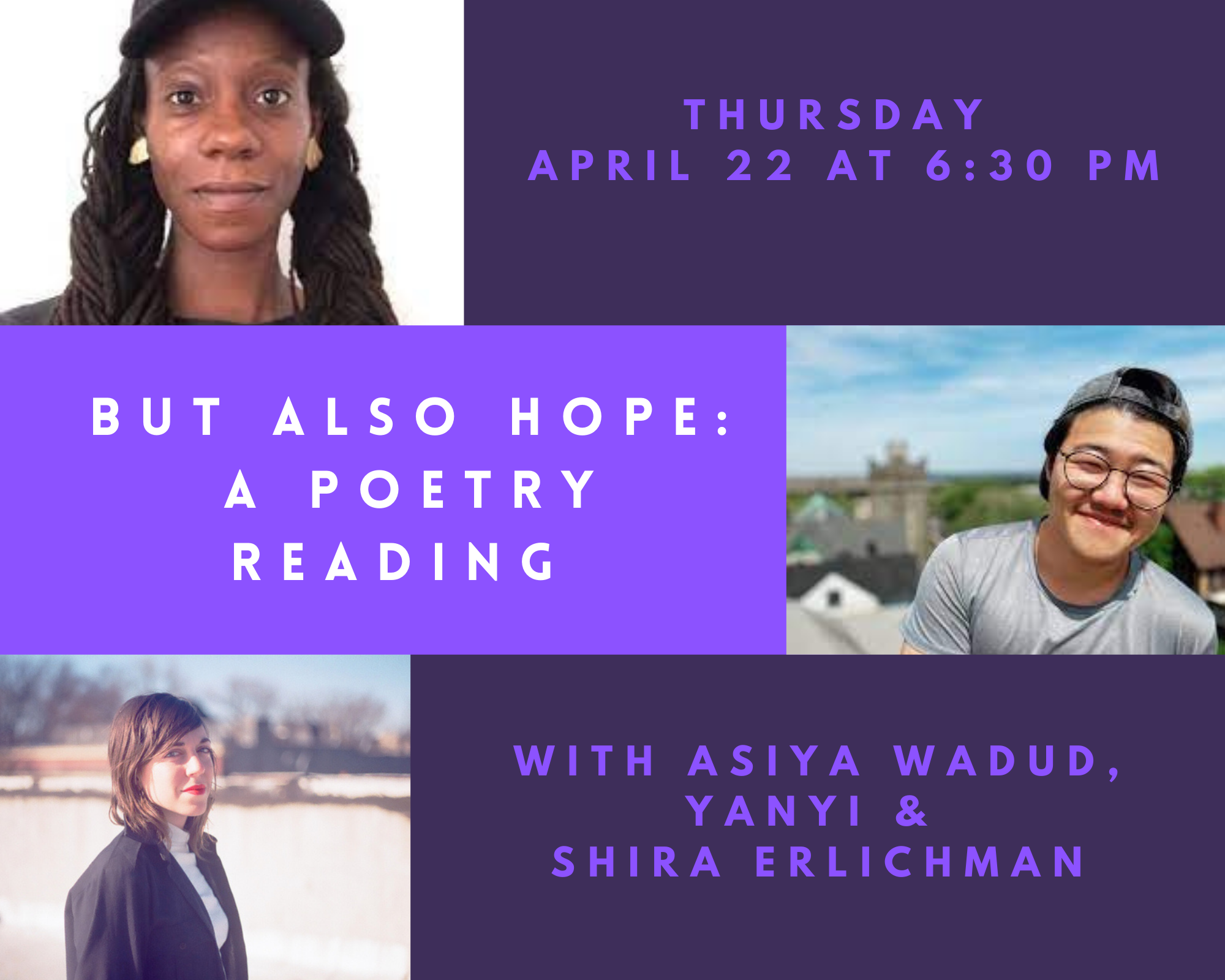 www.cambridgema.gov: BUT ALSO HOPE: A Poetry Reading with Yanyi, Shira Erlichman, & Asiya Wadud