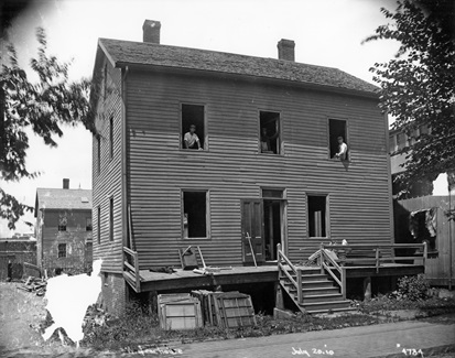 Photograph of a house at 76 Boylston Street from the Historical Commission's Boston Elevated Collection