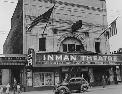 Photo of the Inman Theatre in the 1950s