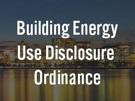 Building Energy Use Disclosure Ordinance