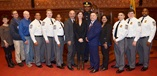 Photo of Cambridge Police Cadet Class with City Manager and City Councilors