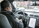 Inside Cambridge Police Patrol Car
