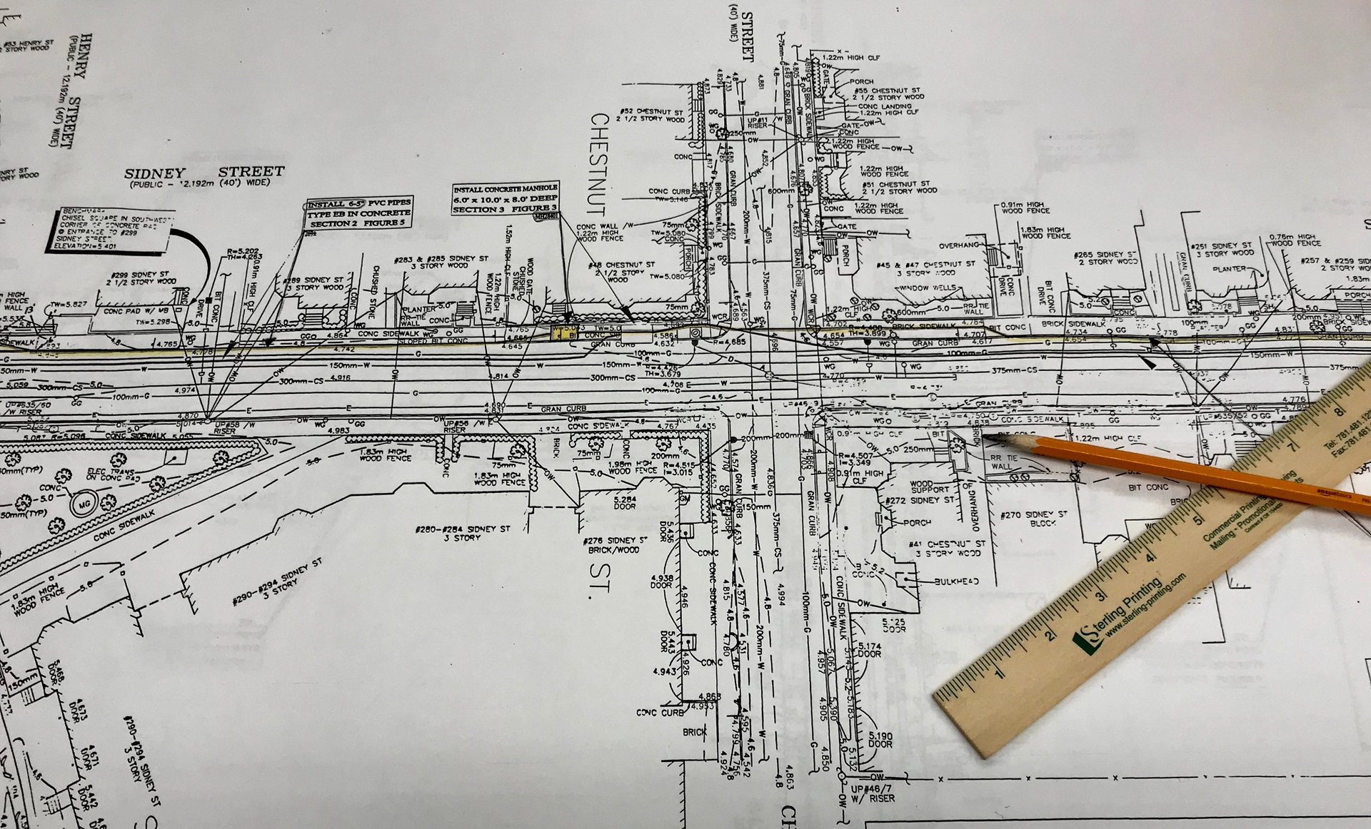 Engineering Plans, Pencil, Ruler