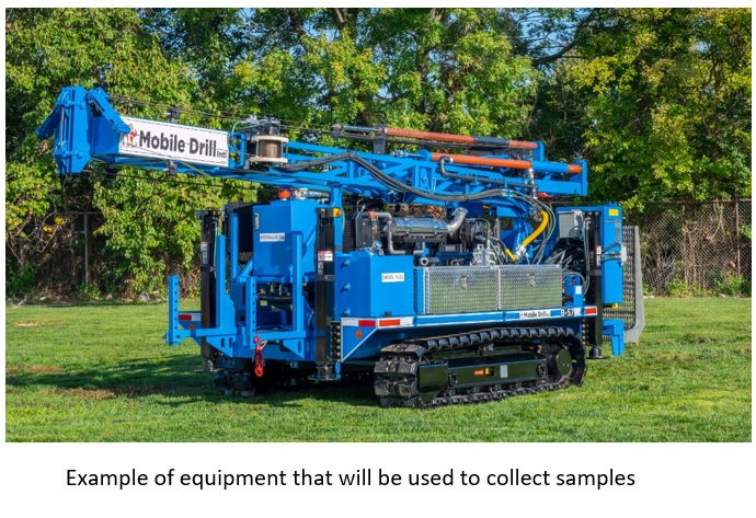 Picture of machine used to collect soil samples