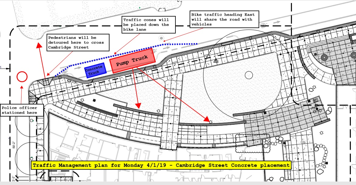Traffic Management Plan for KOCUS Concrete Delivery - April 1, 2019
