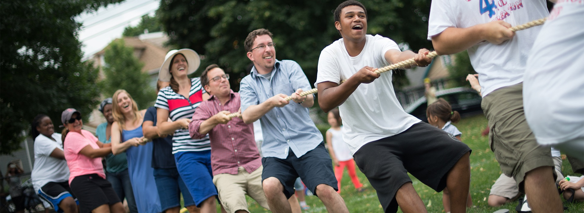 Photo of people playing tug-of-war
