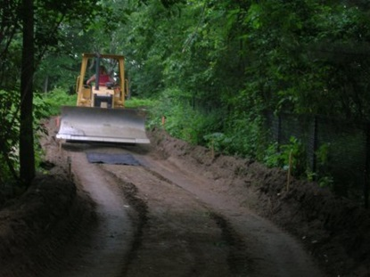 Paths being graded throughout the Northeast Sector.