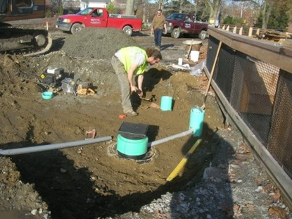 Water pipes placed in Maher Park.
