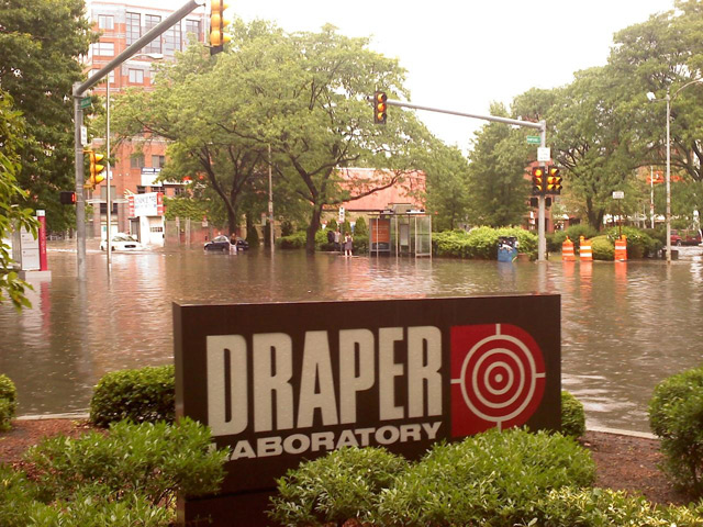 Flooding by Draper Lab building