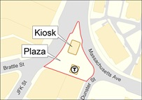 map of kiosk and plaza