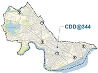 City map with location of CDD offices