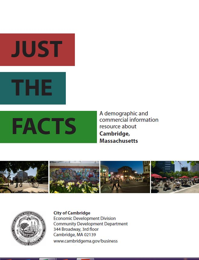 Cover to Just the Facts Brochure