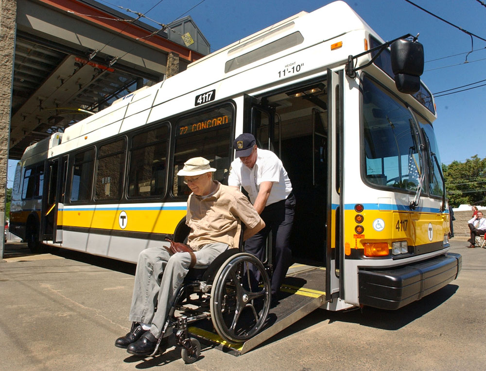 Wheelchair existing bus