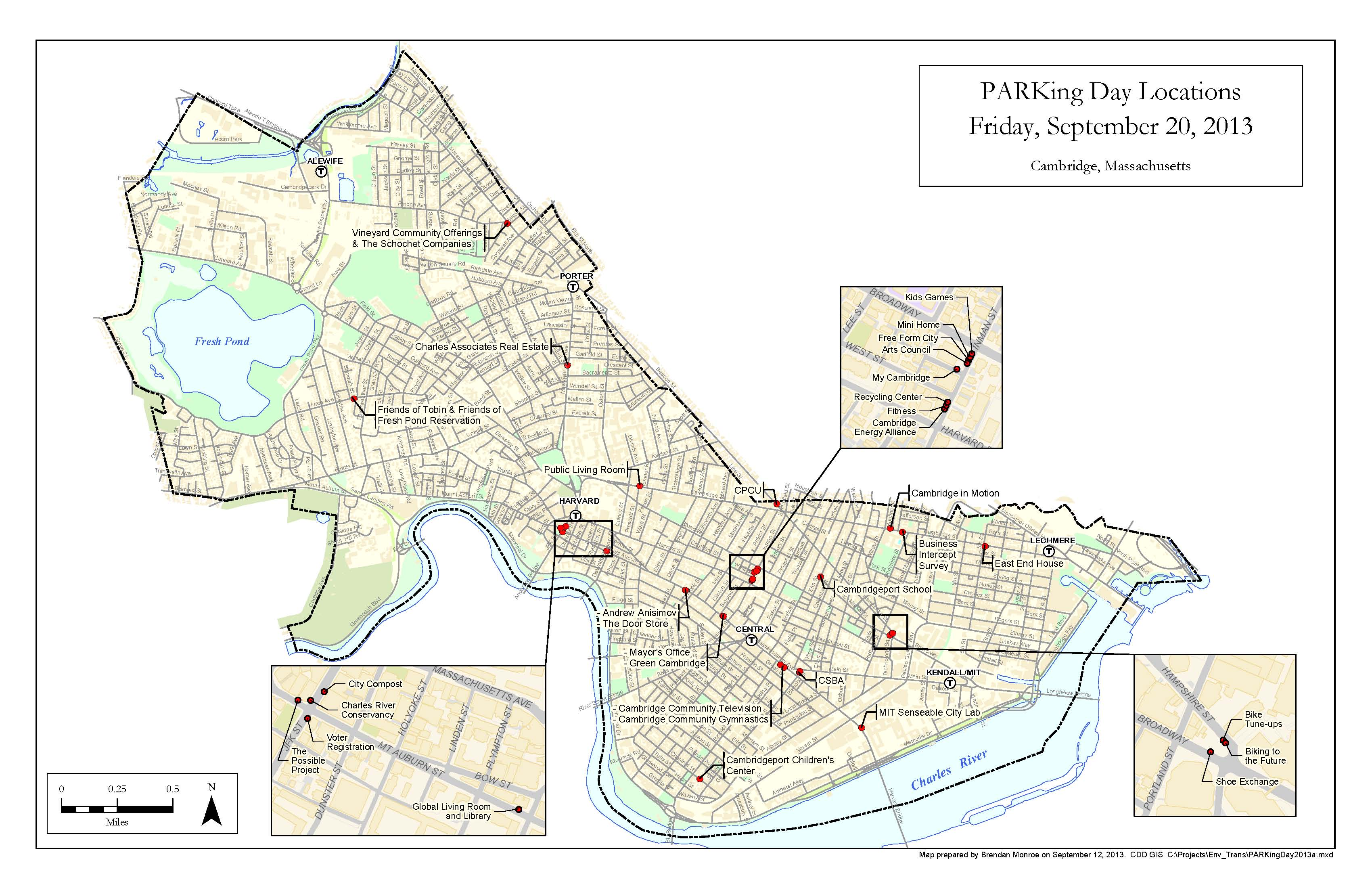 PARKing Day Map 2013