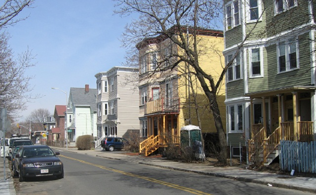 Residential Street in Cambridgeport