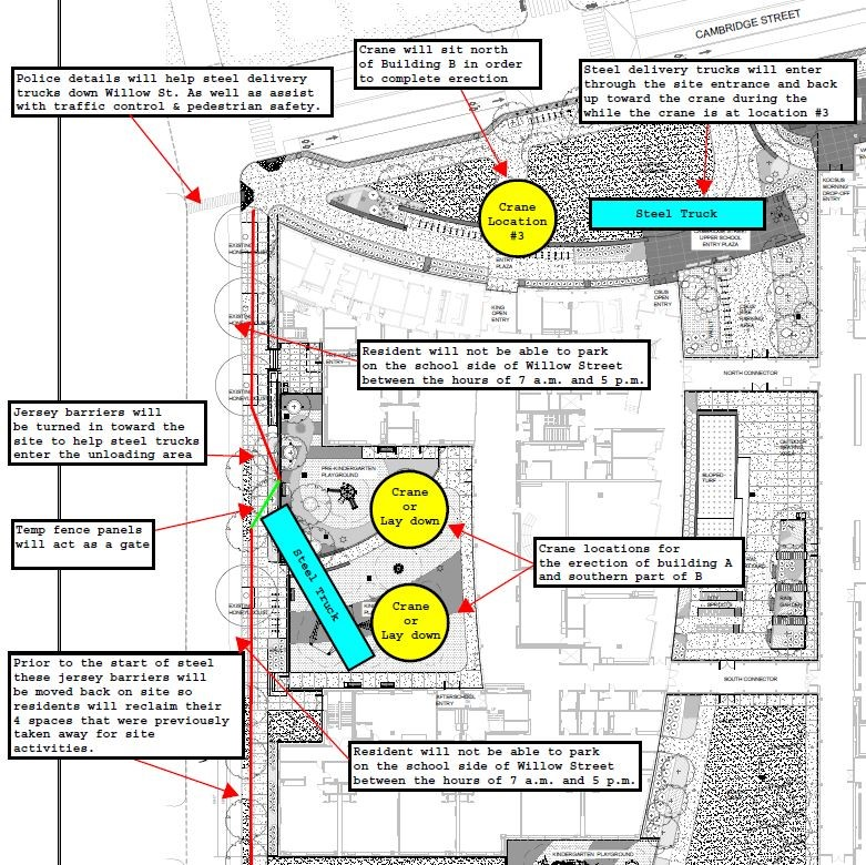 King Open Crane Site Map