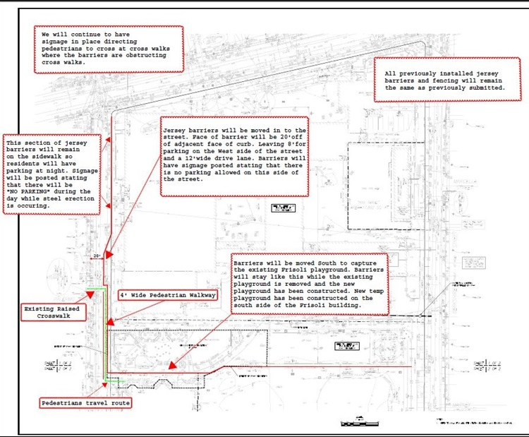 Willow St Jersey Barrier Diagram