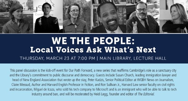 we the people event cambridge public library march 23, 2017