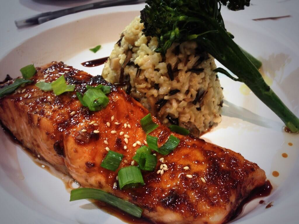 Brown Salmon Dish