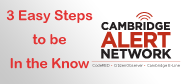 Cambridge Alert Network Promo