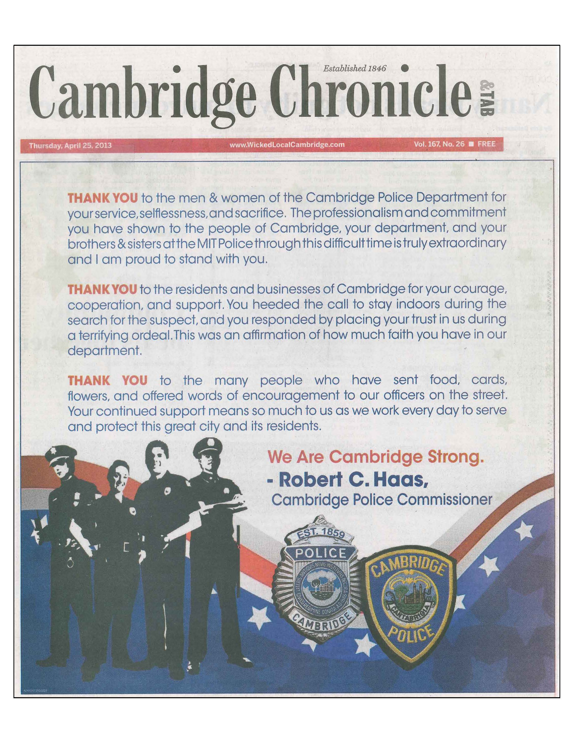 Chronicle Ad