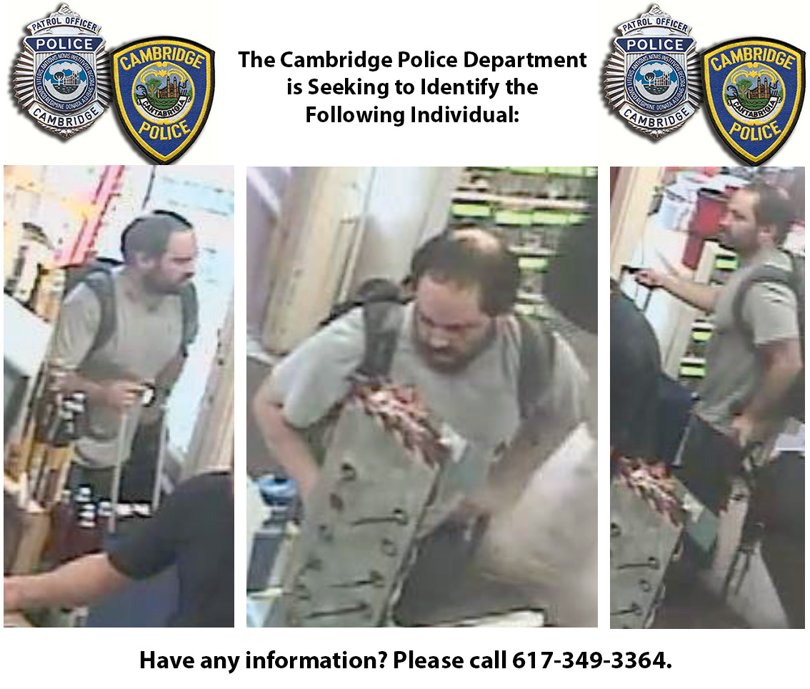 Waltham Crime Rates And Statistics: Cambridge Police Seeking To Identify Individual
