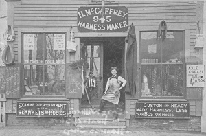 Photo of Irish immigrant business, McCaffrey's Harness Shop