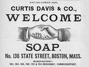 1897 advertisement for Curtis Davis and Co. soap
