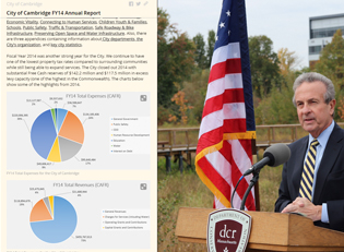 FY14, Annual Report, Cambridge, Camb, MA, Story Map, GIS, Map, Report