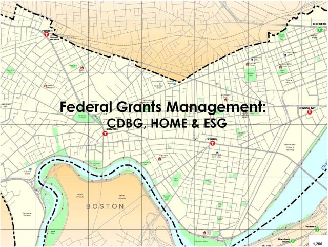 Federal Grants Management:  CDBG, HOME & ESG
