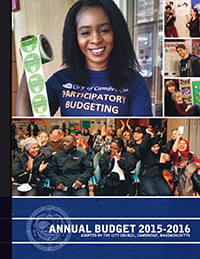Cover of the FY16 Adopted Budget Book